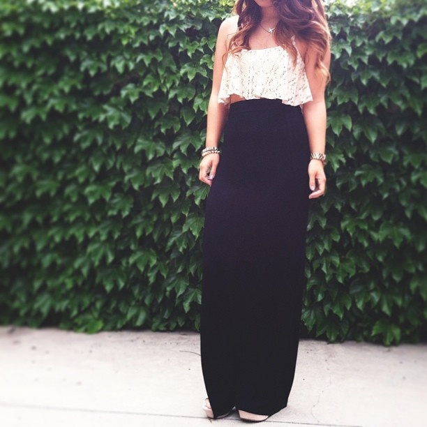 107 best Crop Top And Maxi Skirt images on Pinterest