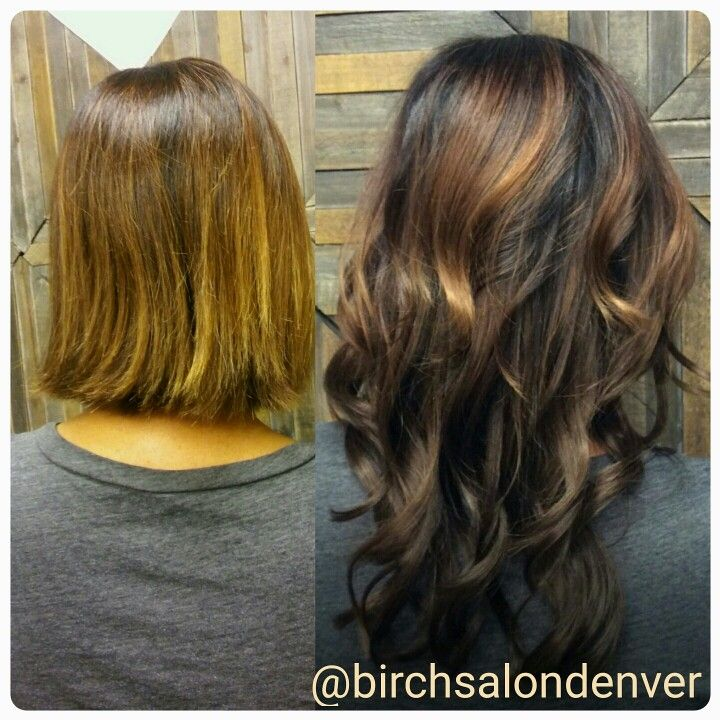 Before and after extensions from bob. Fine hair solutions @ www.birchsalondenver.com