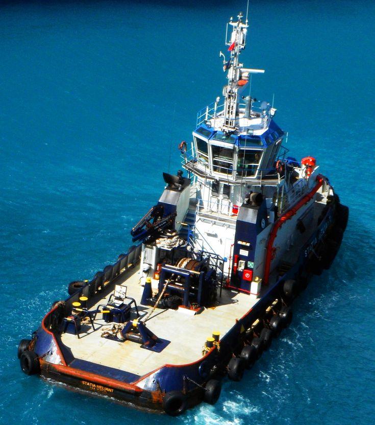 Rear Deck Of The Statia Reliant Tug Boat In St Maarten|Love's Photo Album