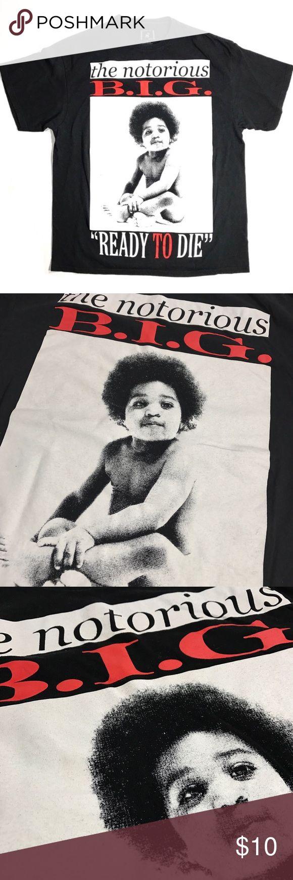 Notorious B.I.G. XL Shirt Notorious B.I.G. Shirt Front print only No flaws  Size: XL Measures: 23x30in.  Tags: yeezus streetwear Brooklyn mint Kanye west jay z wu tang clan New York hip hop rap Fear of God nwa bandtees free shipping yeezus vlone ftp antisocial notorious big Shirts Tees - Short Sleeve
