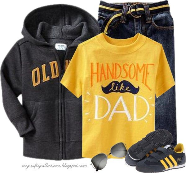 Toddler Boy's Outfit: Handsome Like Dad - featuring items from Old Navy, 6PM, and H&M