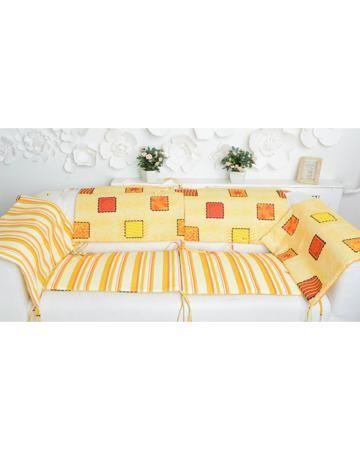 Ням-Ням для кроватки Печеньки  — 1935р. ------------------------ Бортик для кроватки Печеньки Ням-Ням - яркое дополнение для детской кроватки. Бортик состоит из 6 частей, каждая из которых снабжена завязками.