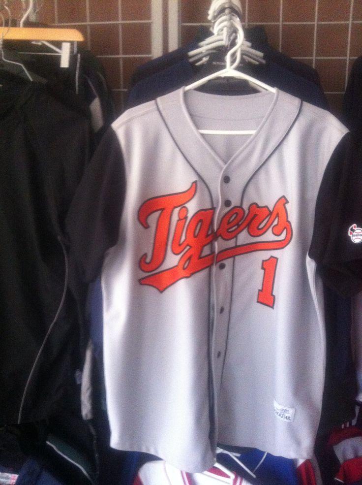 Tigers custom baseball uniform www.silverstar-sports.com Inquire for options