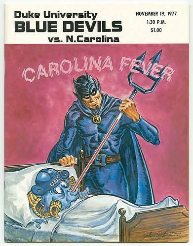 Duke vs. UNC Football Game Program Cover%2C November 19%2C 1977