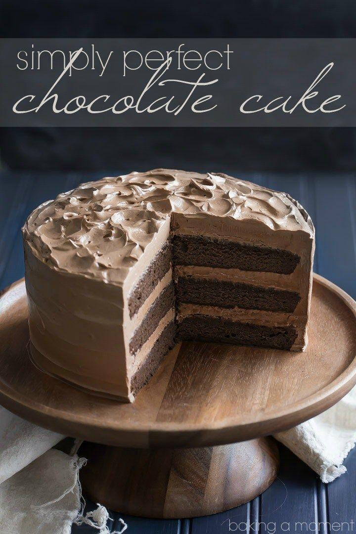 Gewoon perfect Chocolate Cake: dit is de beste chocolade cake recept die er zijn.  Zo eenvoudig te, vochtige maken, en met tal van donkere chocolade-y smaak!
