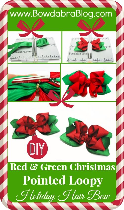 Pointed Loopy Holiday Bowdabra Hair Bow