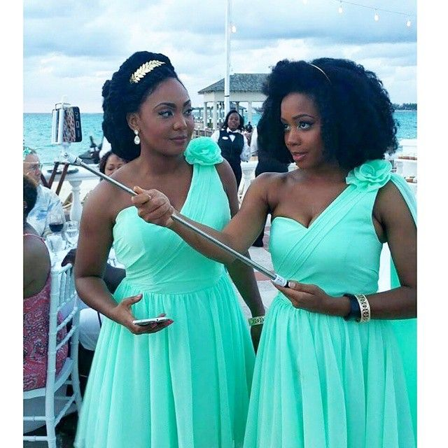 African American Afro Caribbean Natural Hair Bridesmaids