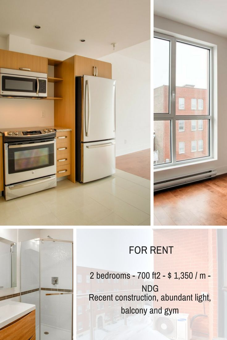 Contemporary and bright condo, balcony, open view, superior soundproofing, gym, near all essential services. #Condo #Montreal #RealEstate #Realtors #Brokers #Duquesimms #MontrealRealEstate #NDG #ForRentMontreal