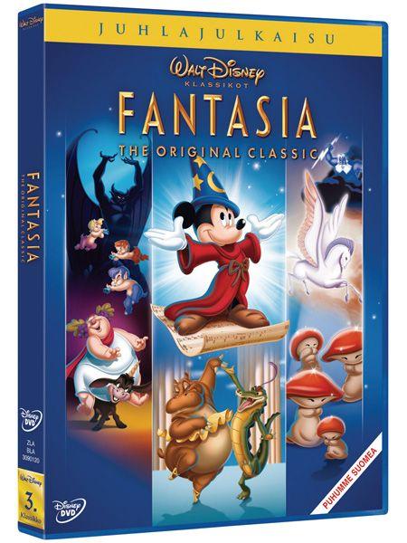 Disneyn ajaton klassikkoanimaatio Fantasia tarjoaa kuvan ja äänen upean juhlan, nyt digitaalisesti paranneltuna. Näe musiikin heräävän eloon ja kuule kuvien puhkeavan soimaan! Mukana paljon upeaa lisämateriaalia. Animaatio, 1940. Kesto 1 t 59 min.