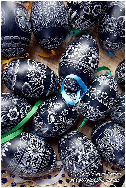 Beautiful & elaborate! Hand Decorated Eggs - Spring celebrations in Wallachia, Czech republic