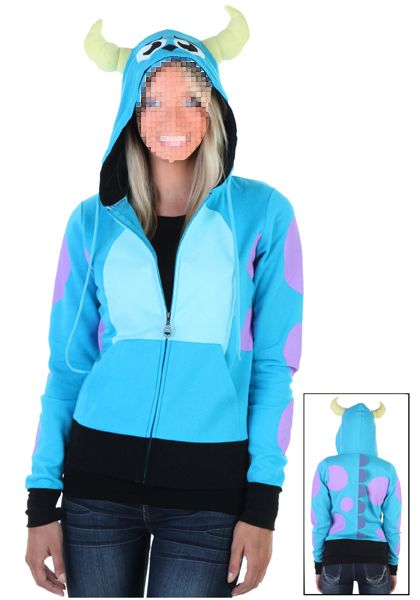 adult Sulley hooded costume for party and carnival in Monsters University $20~$80