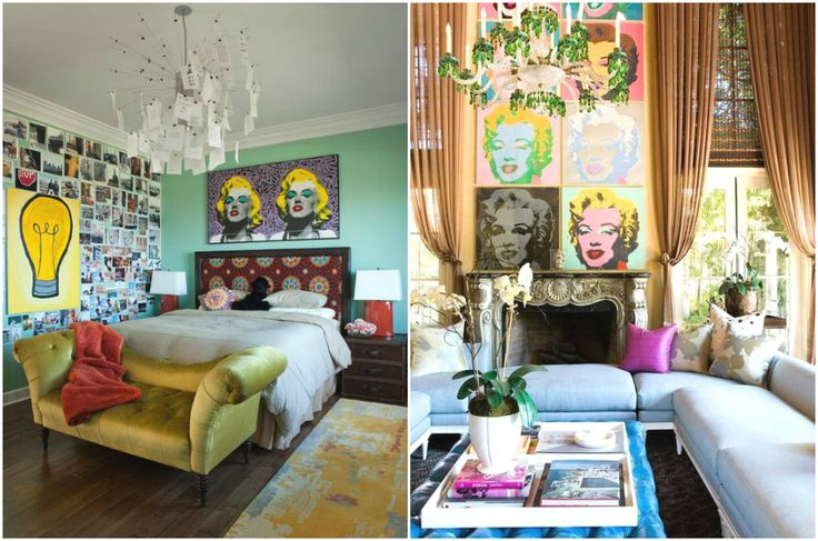 Элегантные интерьеры в стиле поп-арт #interior #мебель #дизайн #интерьер #дом #уют #декор