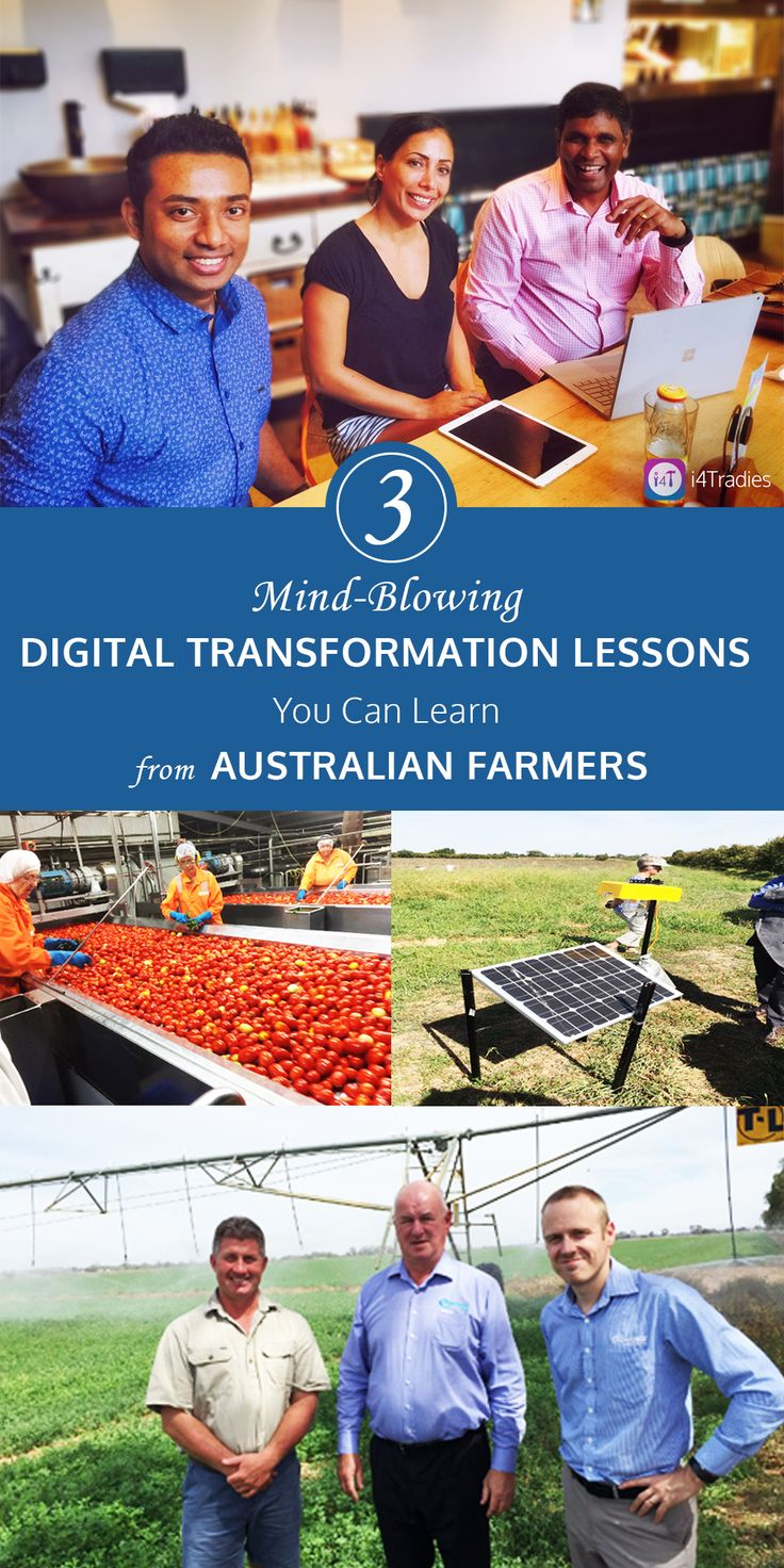 Are you a progressive #TradesServices business owner?  then, we would like to show you how i4Tradies can transform your business and have the similar visibility, traceability, and sustainability of your business like the 'progressive #farmers' are doing it in #Australia