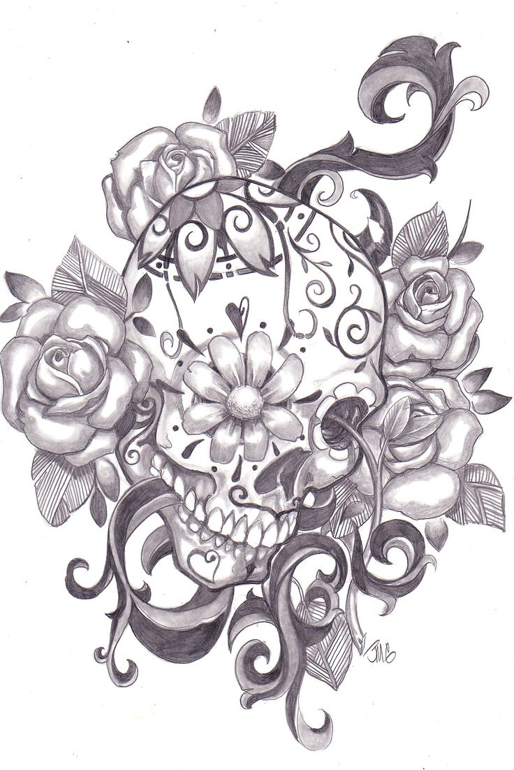 sugar skull tattoo designs | Sugar Skull Designs Inspiration From Mexican Folk