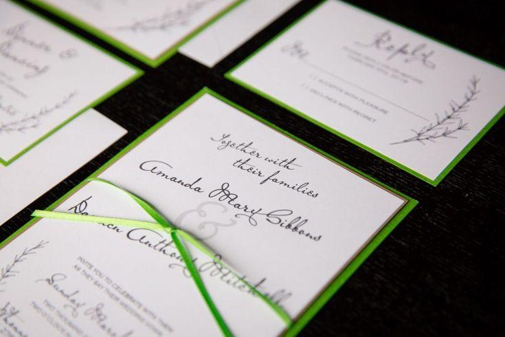 Pantone wedding invitations | Joanna Moss Photography | 2017 Pantone – Greenery