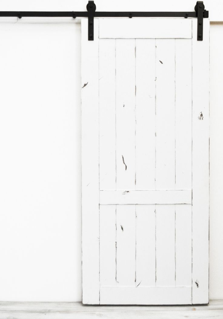 Barn Door Country Vintage - White