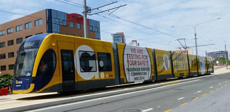 GLink Tram Scarborough St Southport Gold Coast Qld  Australian 15 02 2014