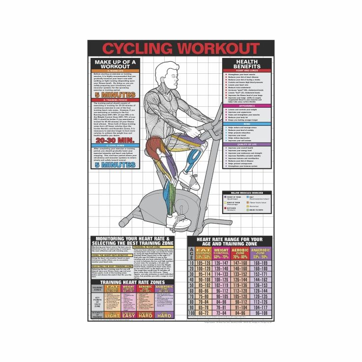 Upright Cycle Workout Poster - Laminated