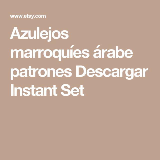 Azulejos marroquíes  árabe patrones  Descargar Instant  Set