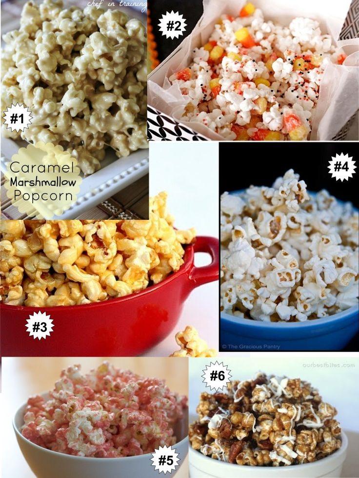 Movie Snack Ideas from MommyBearMedia.com - The Six Best Popcorn Recipes Ever!
