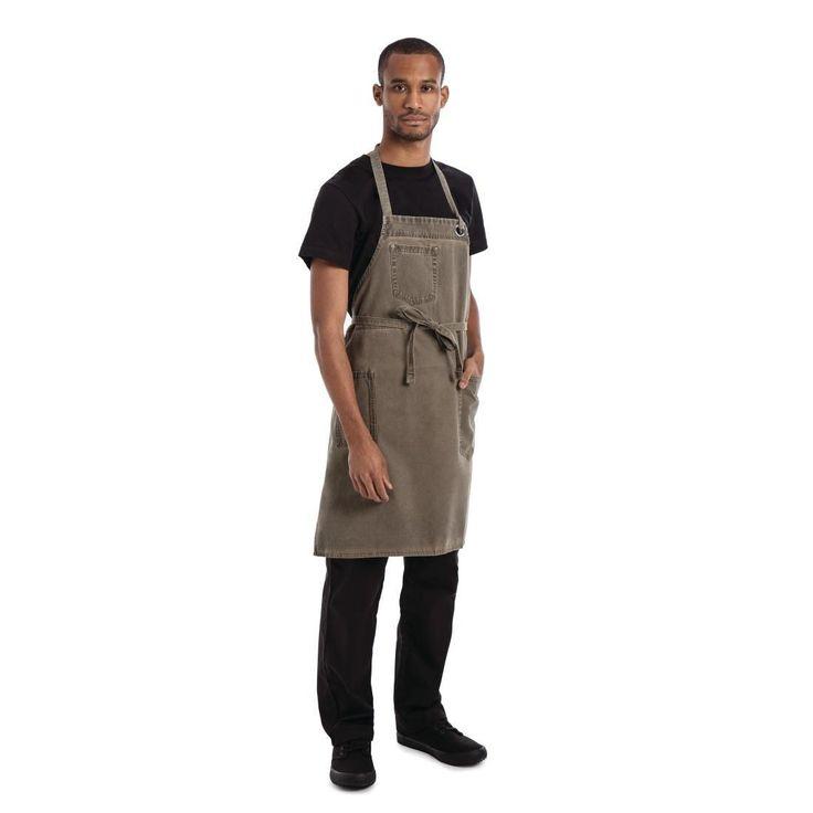 Delantal marrón con peto modelo Dorset Chef Works
