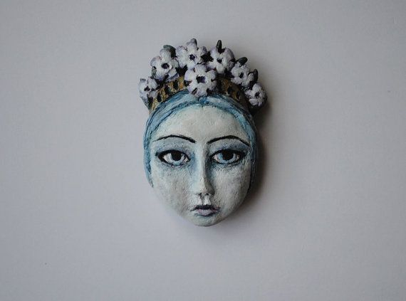 OOAK Chunky polymer clay magnet. Flower Girl.