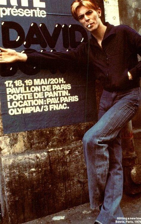 DAVID BOWIE PARIS 1976