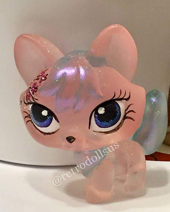 Littlest Pet Shop Toy Custom Ooak Lps Resin Blossom Fox Lps Album Covers Discos Handmade Necklaces Display Stands Be In 2020 Lps Crafts Little Pet Shop Toys Custom Lps
