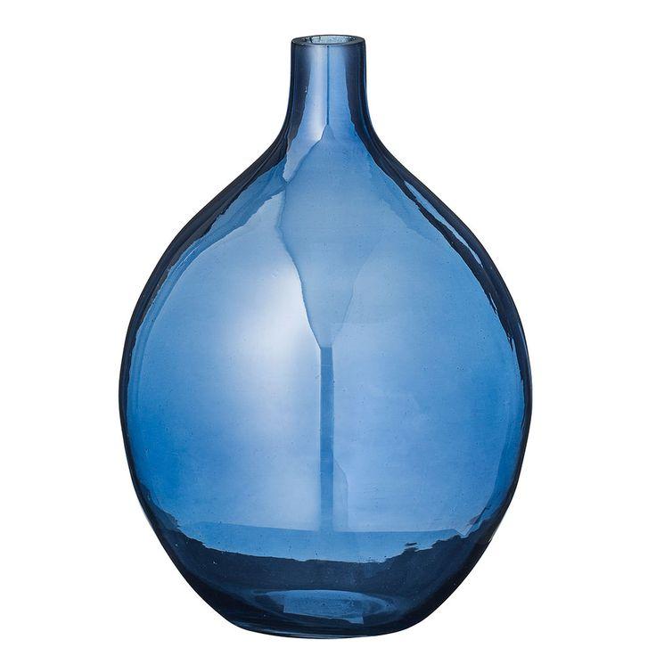 Bloomingville+Vase+20+cm,+Navy,+Bloomingville