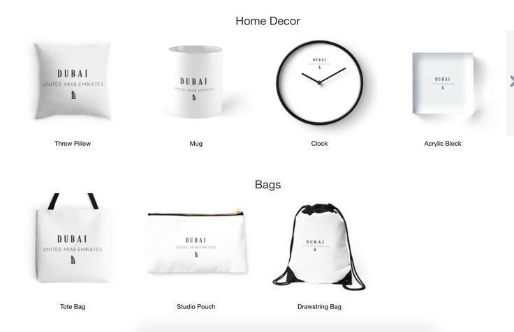 Dubai!- Home Decor, Bags, T-shirts and more. Available on Redbubble now.