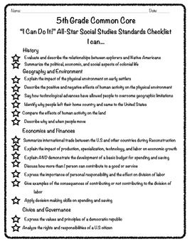 A checklist for students and teachers to keep track of met Common Core standards and objectives....