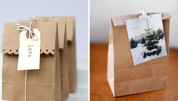 paper bags gift wrap wrapping - papieren zakjes als cadeaupapier kado inpakken