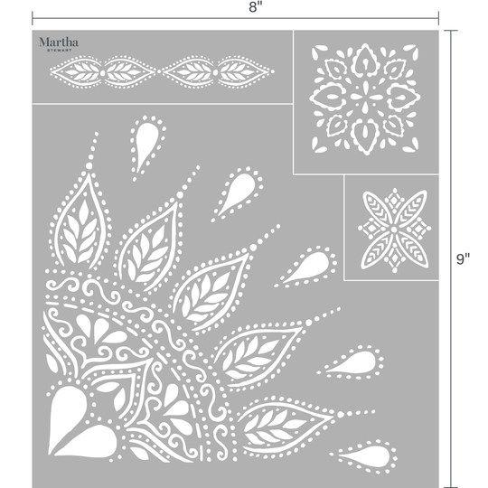 Martha Stewart Adhesive Silkscreen, Mandala | DIY | Martha