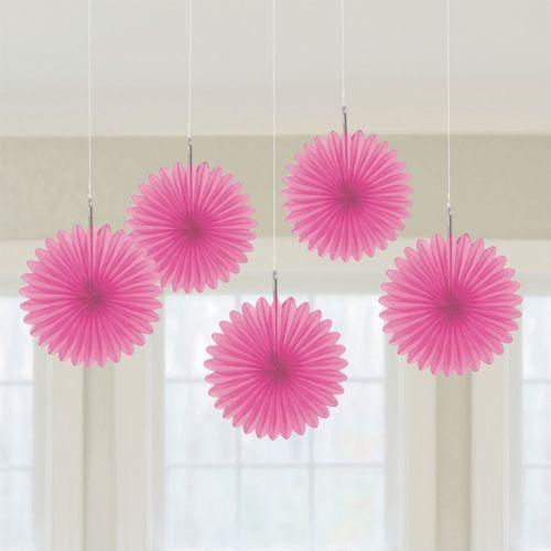 Abanicos de papel de color rosa ideales para la - Abanicos para decorar ...