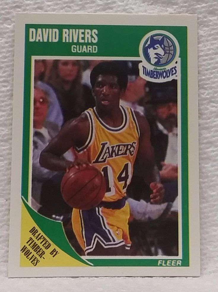 "1989 Fleer #94 David ""Doc"" Rivers ROOKIE CARD, NM-Mint+, Los Angeles Lakers"