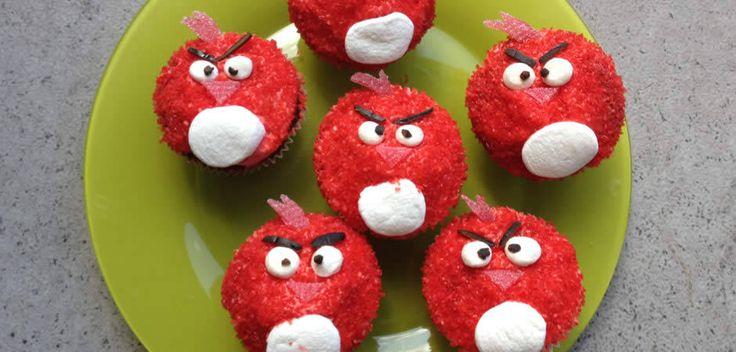 Angry Birds Cupcakes Bild