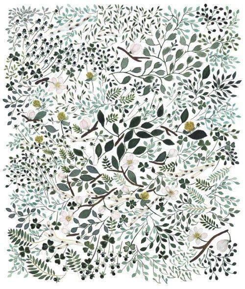 Beautiful hand-painted illustration by Anna Emilia Laitinen