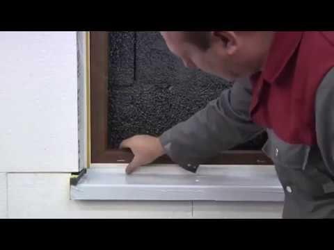 Fensterbank aussen einbauen | Aluminium Fensterbänke einbauen - Montage für außen - YouTube