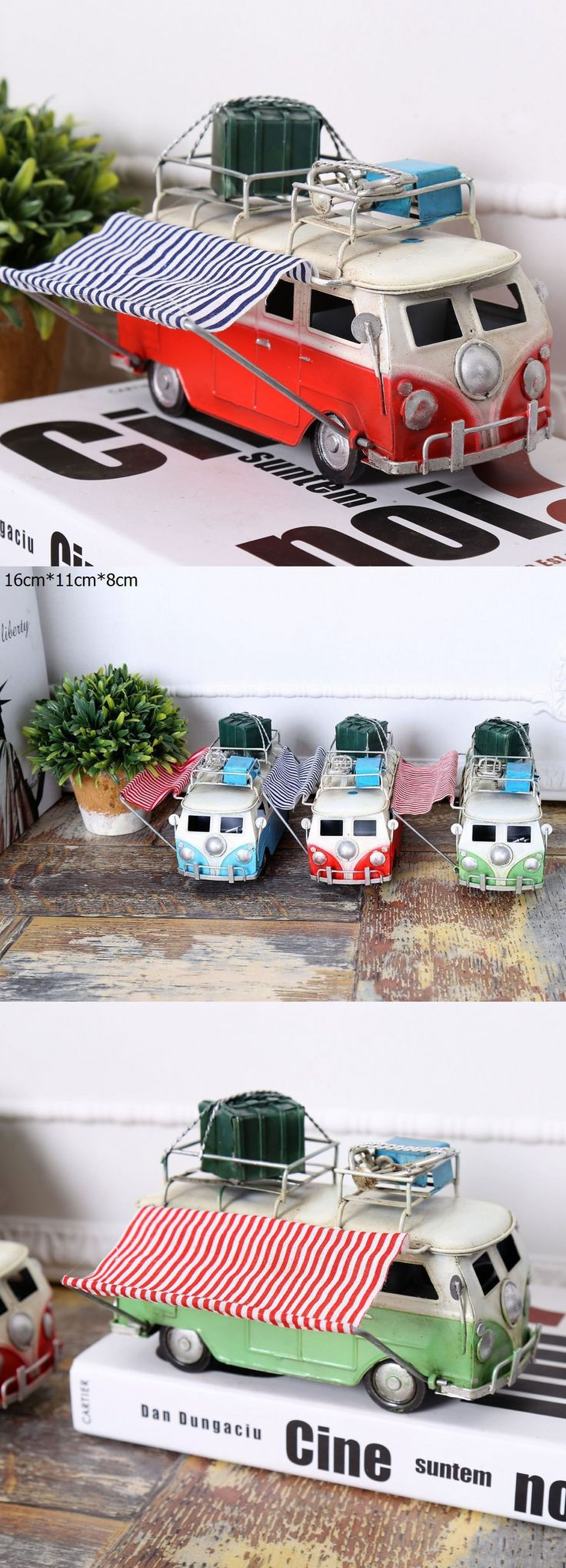 2016 new metal crafts handmade ornaments with canopy bar iron car model