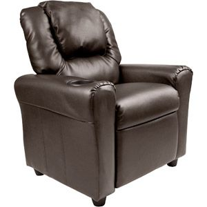 Flash Furniture Kids' Vinyl Recliner with Cupholder and Headrest