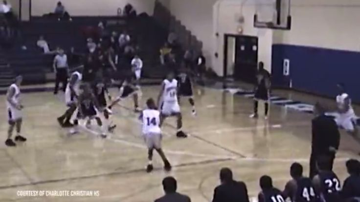 Young Stephen Curry showed no mercy.