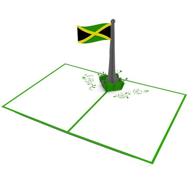 Jamaican Flag pop up card