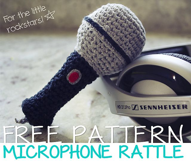 Ravelry: Microphone Amigurumi Rattle pattern by María Cimiano