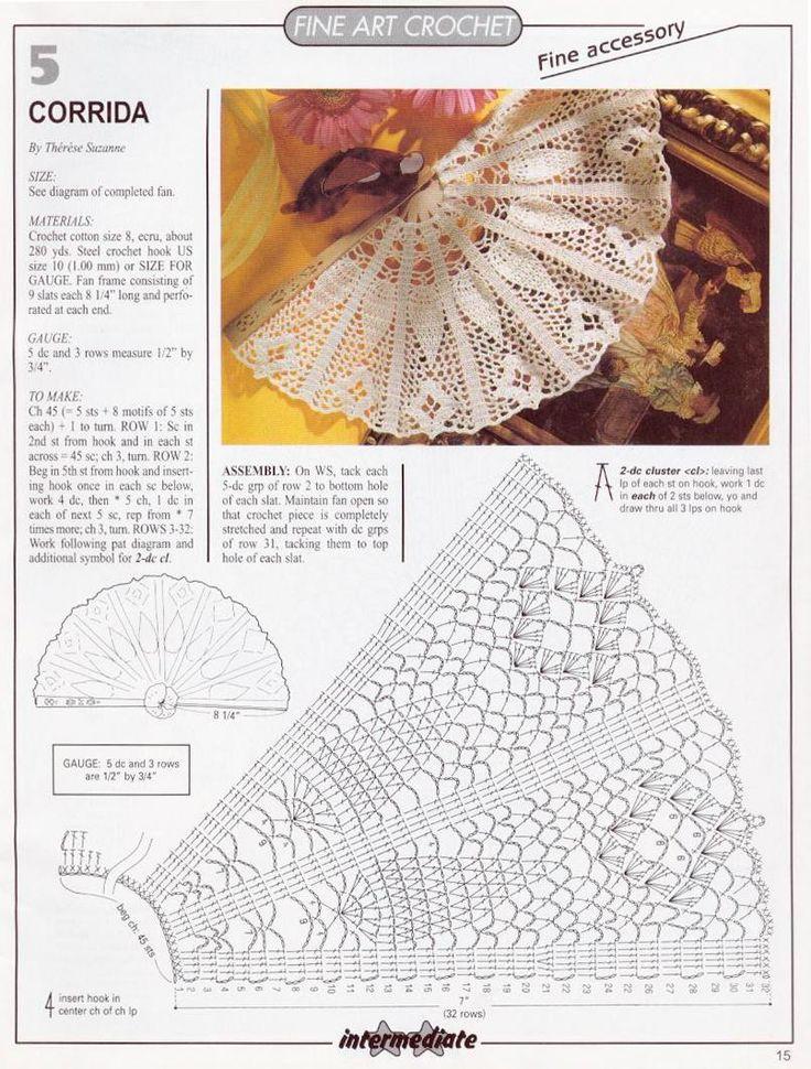 crochet Abanico