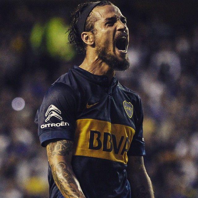 Dani Osvaldo en su paso por Boca Juniors