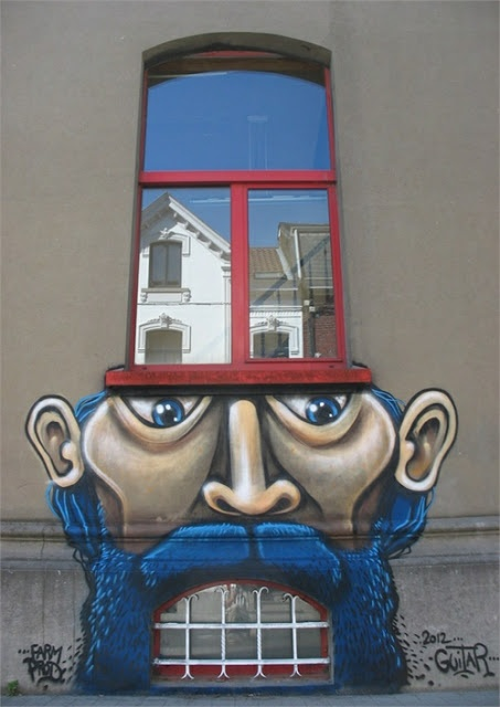 Top 10 Creative Buildings, Street art on building