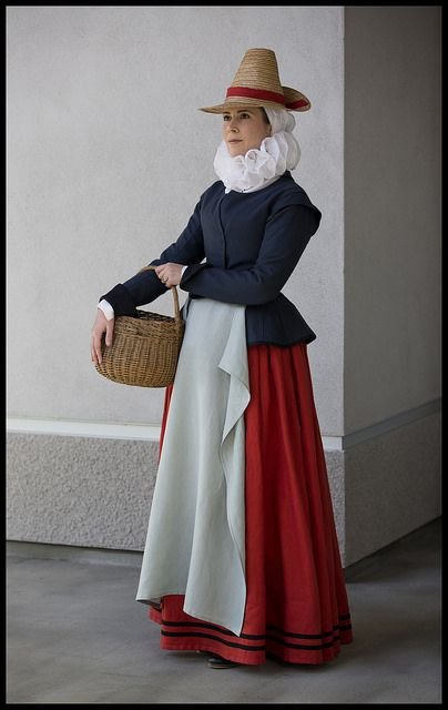 Late Elizabethan/Early Jacobean working class costume (Waistcoat, petticoat and ruff)