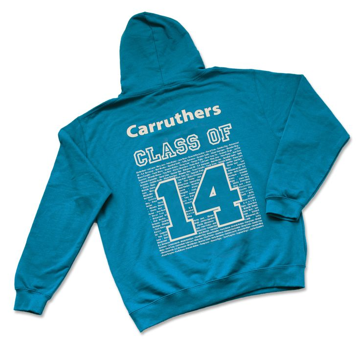 customised school leavers hoodies back