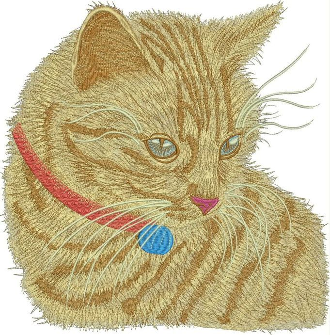 Cute kitty free embroidery design animals