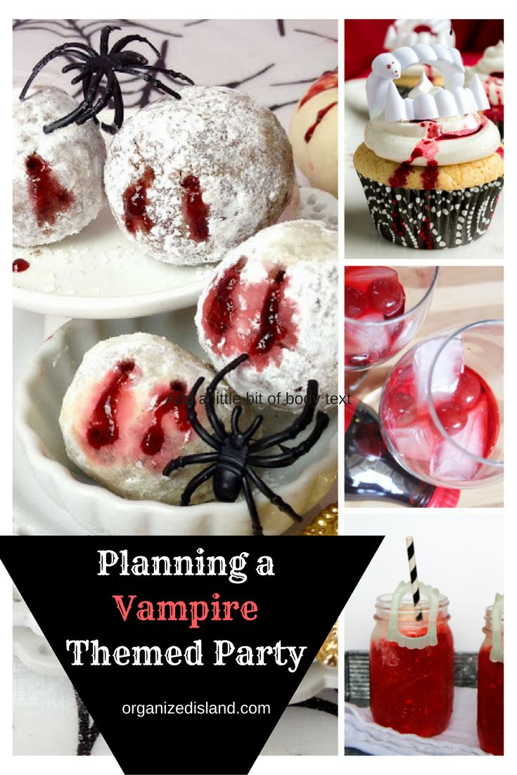 Planing a vampire-themed party? Whether it is to celebrate Halloween or watching Vampire Diaries, these are tips and recipes you can sink your teeth into.